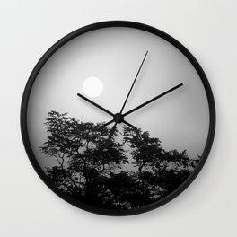 Sunset through fog // Borneo Wall Clock