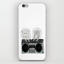 Hedgehogs on Boombox iPhone Skin