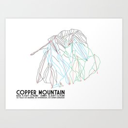 Copper Mountain, CO - Minimalist Trail Art Art Print