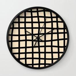 Abstract Plaid black Wall Clock