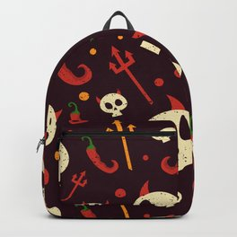 Skulls Hot Chili Peppers Hell Pattern Backpack