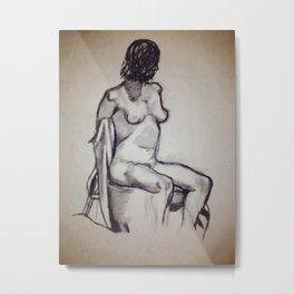 Figure Drawing Metal Print