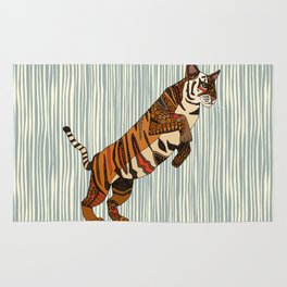 tiger stripes silver Rug