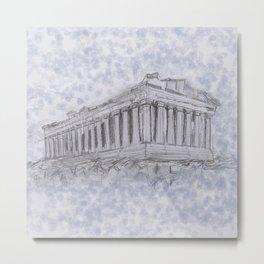Illustartion of the Parthenon Metal Print