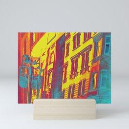 gold evening lights Mini Art Print
