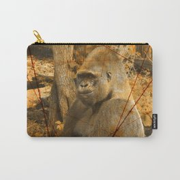 Magnificent Silverback Lowland Gorilla Grunge Photo with Vintage Effects Carry-All Pouch