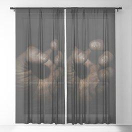 Working Man's Hand Sheer Curtain