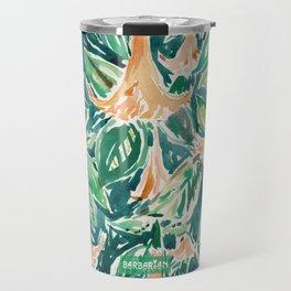DATURA DREAMS Watercolor Floral Travel Mug