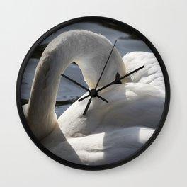 Swan Peace Wall Clock