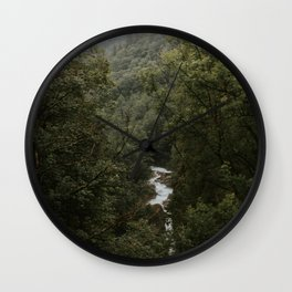 Forest Valley River - Landscape Photography Wall Clock