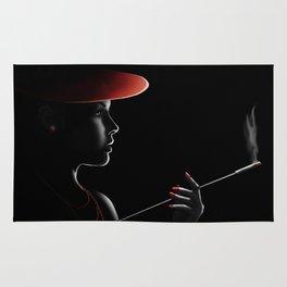 Smoking lady Rug