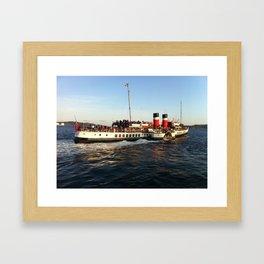 Waverley paddle steamer leaving Millport  Framed Art Print