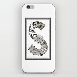 Zentangle S Monogram Alphabet Initials iPhone Skin