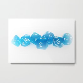Blue Gaming Dice Metal Print
