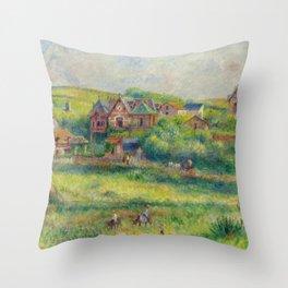 """Auguste Renoir """"Le châlet de Blanche Pierson à Pourville"""" Throw Pillow"""