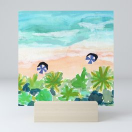 Seychelles Tropical Island Beach Mini Art Print