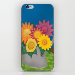 Flowers in a Watering Can iPhone Skin
