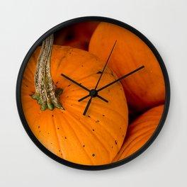 Small Pumpkin in a Pumpkin Patch Wall Clock