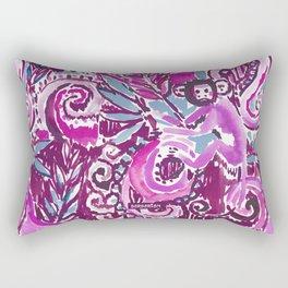 MONKEY TRICKSTER - PLUM Rectangular Pillow