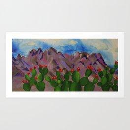 Organ Mountains Art Print