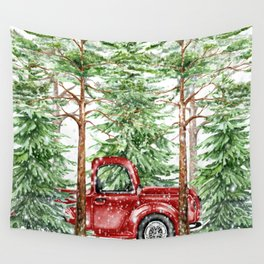 Woodland Snow Wall Tapestry
