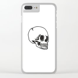 Cracked Skull Clear iPhone Case