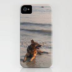 German Shepherd in the Surf Palolem Slim Case iPhone (4, 4s)