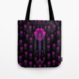 jungle flowers in the dark Tote Bag