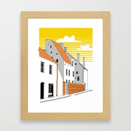 Medieval houses Framed Art Print