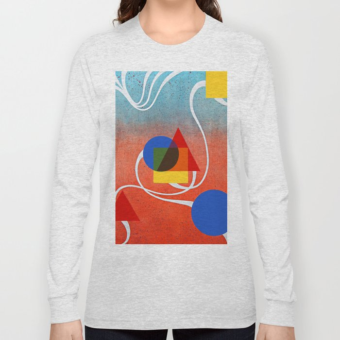 Self-portrait with Cat and Dog Long Sleeve T-shirt