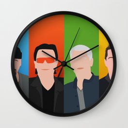 U 2 - Bono, the Edge, Adam Clayton, Larry Mullen Jr Wall Clock