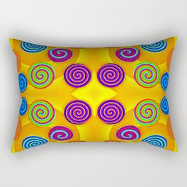 Colorful soft twirls by wool Rectangular Pillow
