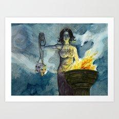Theatre (Melpomene/Thalia) Art Print