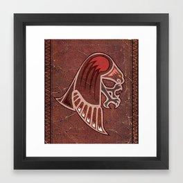 Aboriginal Hawk Attack Framed Art Print
