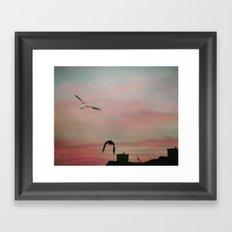 Red Sky at Night Sailor's Delight Framed Art Print
