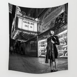 Black And White Street Photography Wall Tapestry