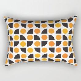 Geometric Pattern 175 (orange spots) Rectangular Pillow