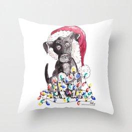 Helpful Puppy, Cute Christmas Throw Pillow