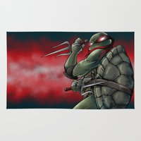 tmnt Area & Throw Rugs featuring Raphael . TMNT by Moonsia