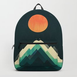 Ablaze on cold mountain Backpack