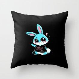 Death Metal Bunny Throw Pillow