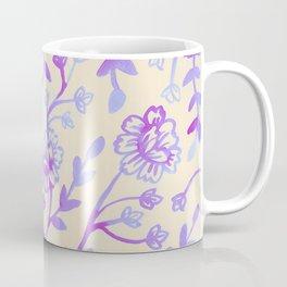 Watercolor Peonies - Peach Violet Coffee Mug