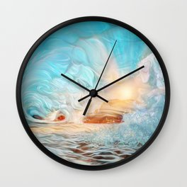 The evening wave Wall Clock