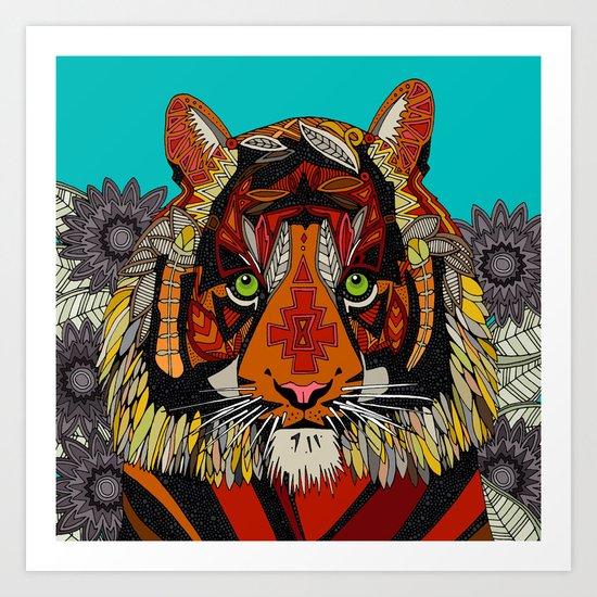 tiger chief Art Print
