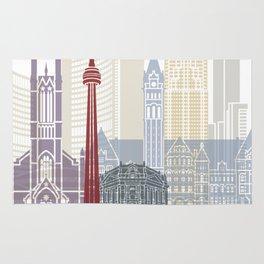 Toronto skyline poster Rug