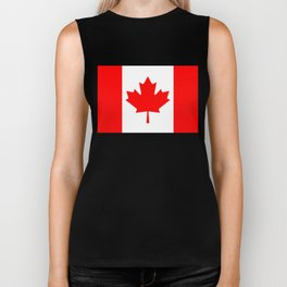 Canadian National flag, Authentic color and 3:5 scale version Biker Tank
