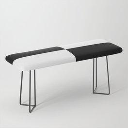 Black & White Squares Bench
