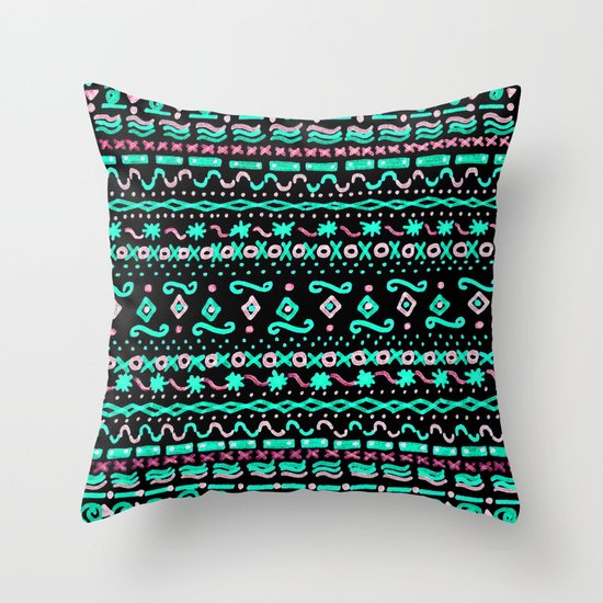 say that you love me (black) Throw Pillow
