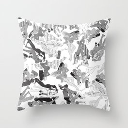 Wild Lines Throw Pillow