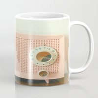 cassia beck Mugs featuring Easy Listening by Cassia Beck